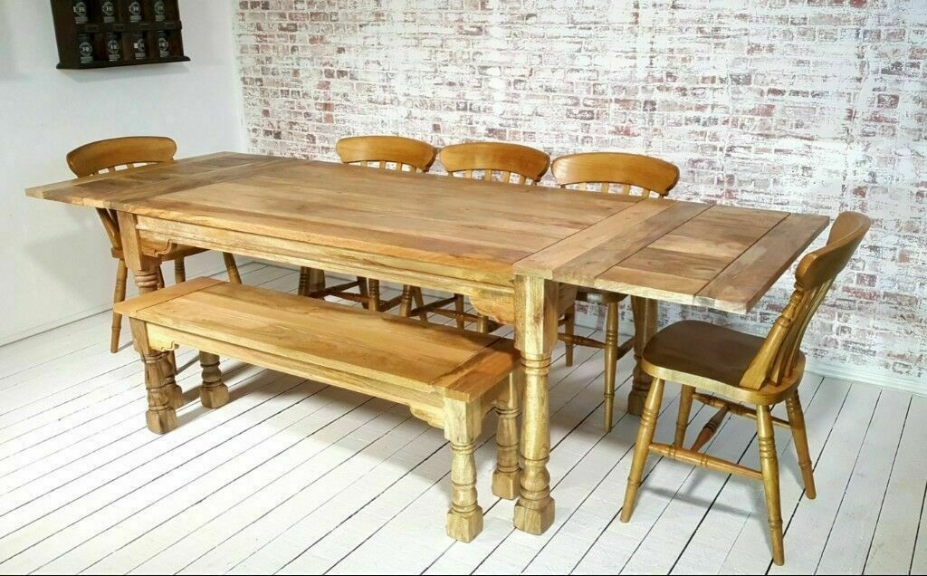 Marvelous Dining Kitchen Table Set Extending Farmhouse Rustic With Antique Style Chairs Bench Space Saving In Whickham Tyne And Wear Gumtree Alphanode Cool Chair Designs And Ideas Alphanodeonline