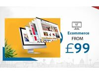 START AN ONLINE SHOP TODAY!   FROM £99   ECOMMERCE WEBSITE
