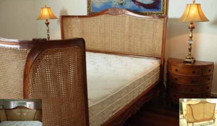 Magnificent king size carved solid timber  bed- Classic & Elegant