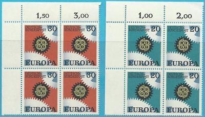 Bund aus 1967 ** postfrisch MiNr.533-534 Ecke oben links - Europa!
