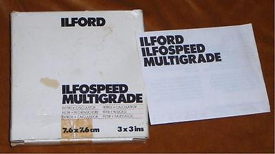 ILFORD MULTIGRADE FILTERS. BOXED SET OF 7 FILTERS.