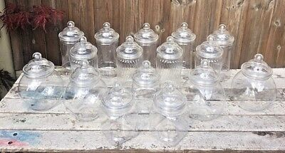 16 Candy Jars - 16 x Mixed Jars 2 Lid Styles you choose Wedding Christening Candy Cart Buffets