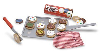 MELISSA & DOUG SLICE AND BAKE COOKIE SET WOODEN PLAY FOOD TOY BRAND NEW