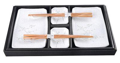 Japanisches Sushi-Set HAKUBAI Japan Sushiset 6er Geschenk Set mit Essstäbchen