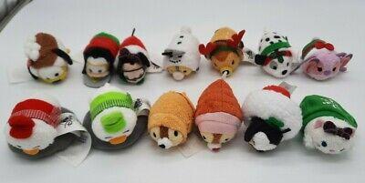 "13 Piece Disney Christmas Holiday Tsum Tsum Mini Advent Calendar Plushes 2.5"""