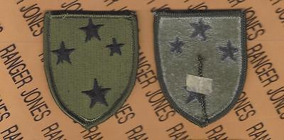 US Army 23rd Infantry Division AMERICAL OD Green & Black BDU uniform patch m/e