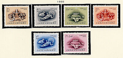 Luxembourg 1955 Christmas Toys Stamp Set #B186-91 MH CV $7 FREE Ship after 1st L ()
