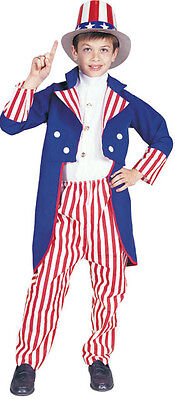 Uncle Sam USA Patriotic 4th of July Dress Up Halloween Deluxe Child Costume S (4th Of July Halloween Costumes)
