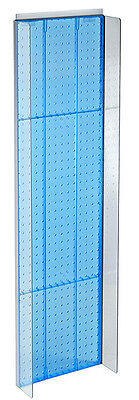 New Retails Blue Plastic Pegboard Powerwing Display 14w X 44high