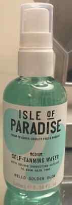 Isle of Paradise Self Tanning Water MEDIUM Golden Glow 3.38oz/100mL Travel Size