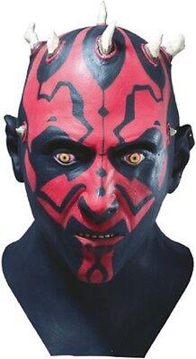 Darth Maul Costume Mask Authentic Star Wars Clone Sith Full Latex - Fast Ship - Star Wars Clone Costumes