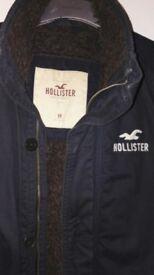 Hollister Dark Blue Mens Jacket - Medium