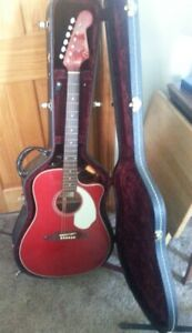 Fender Sonoran Acoustic / Electric Guitar With Hard Case Mint
