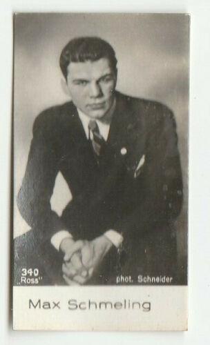 """Max Schmeling card 340 """"SALEM filmpictures"""" Salem Dresden 1932"""