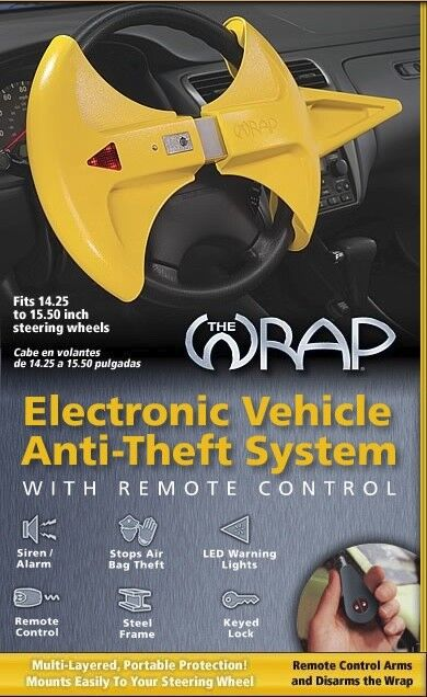 The Wrap® Electronic Vehicle Anti-Theft System Blockit & Lockit Car Security