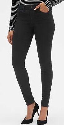 NEW NWT Womens GAP Denim Legging Jeans Mid Rise True Black Jeggings Sculpted $79 Womens Black Denim