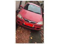Vauxhall Corsa 1.2 red