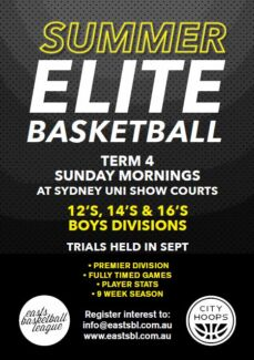 Junior Elite Basketball Try outs Darlington 2008 Inner Sydney Preview