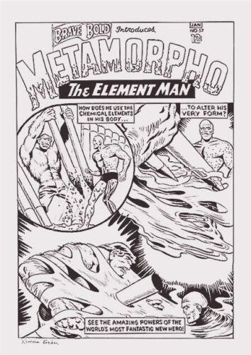 Ramona Fradon Original Art Cover Recreation Brave & The Bold #57 1st Metamorpho