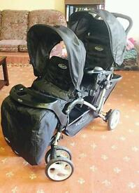 Brand new Graco double seat push chair
