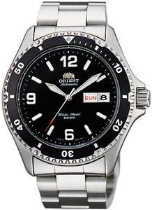 New Orient Mako II Black automatic Gent's watch FAA02001B Diving WR 200m