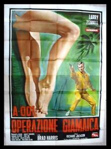 A-001-Operazione-Giamaica-Larry-Pennell-Italian-Movie-Poster-4F-60s