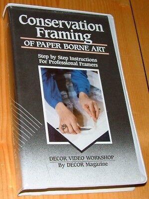 Conservation Framing of Paper Borne Art, VHS VIDEO