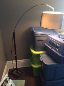 STANDING LAMP, MIRROR, and STANDING FAN