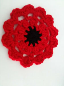 a poppy flower coaster
