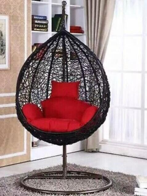 Swing Chair Hanging Chair Egg Chair Rattan Chair Patio Garden Indoor Outdoor With Cushions In Newham London Gumtree