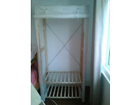 cotton and wood wardrobe £30