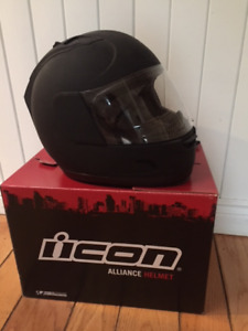 Icon Motorcycle Helmet - Size Small