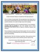 Happy Tails is HIRING! Dog Walkers, Pet Care providers, etc.