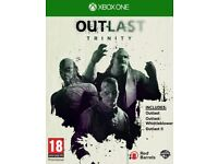 outlast trinity , xbox one , as new ! price stands , no offers !