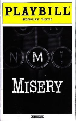 MISERY PLAYBILL NEW YORK CITY NY BROADWAY FEBRUARY 2016 BRUCE WILLIS