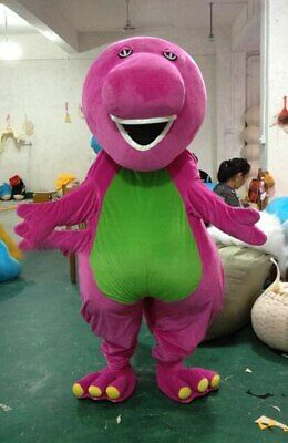Cute Purple Barney Mascot Costume Suit Cosplay Party Game Dress Outfit  Adult 1P](Mascot Outfit)