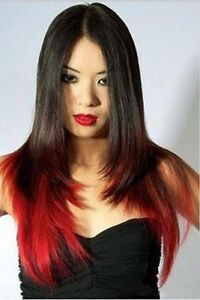 """Clip in hair extension, Straight hair, 60 cm, 24"""", 100g,  RED St. John's Newfoundland image 6"""