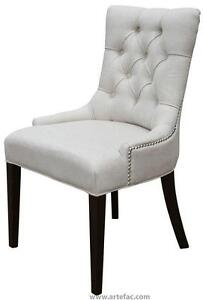 Accent Tufted Fabric Chair in Charcoal, Blue Velvet, Black Velvet, Neutral Linen, Tan and Red