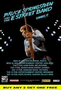 BRUCE SPRINGSTEEN 2017 Australian  Laminated  Tour Poster