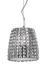 Sparkling Pair of XL Crystal Pendants by Kuzco – MUST SEE!