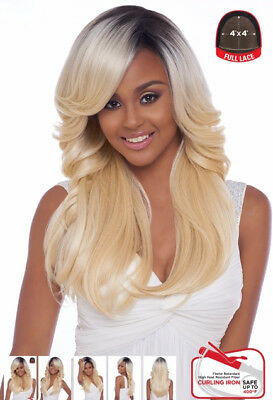 4x4 Base (4X4 MULTI PARTING LACE WIG, SWISS SILK BASE LACE WAVY STRAIGHT (FLS03))