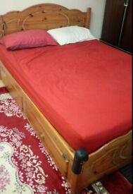 SHERINGTON KING SIZE BED FRAME 5' with 4 Drawers. No Mattress