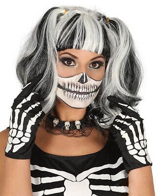 Erwachsene Skelett Handschuhe Knochen Halloween Kostüm Hände Stoff - Erwachsenen Skelett Handschuhe