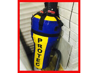 PROTEC Boxing Uppercut Punch Bag & Carta Gloves Mitts Bracket MMA Karate Boxers Gym Fitness Training