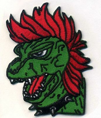 PUNK-ZILLA Punk Godzilla Patch, Biker, Horror, Vest, Morale, Halloween Prop](Horror Punk Halloween)