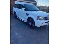 Range Rover sport v8 white