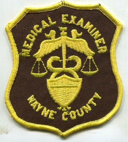 Wayne County illinois Medical Examiner  Shoulder Patch