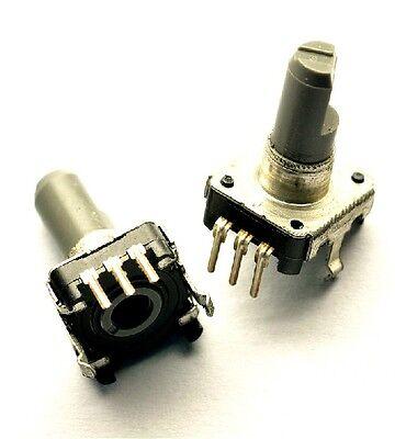 5pcs Rotary Encoder With Switch Ec12 Audio Digital Potentiometer 15mm Handle