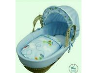 Kinder valley come fly with me moses basket. Bule. Brand new 3 left only.