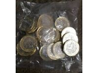 * * * * Sealed bag 20x of 2016 dated NEW £1 one pound coin * * * *